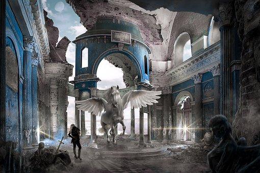 Church, Pegasus, Gothic, Gotich