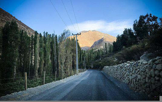 Road, Trees, Mountains, Roadway, Pavement, Path