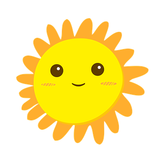 Sun, Smiley, Cartoon, Smile, Women, Girl, Character