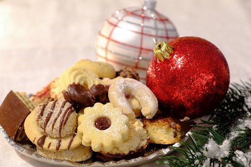 Christmas, Cookies, Food, Snack, Dessert, Baked