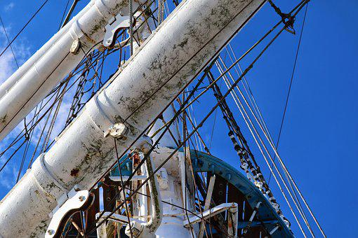 Sailing Vessel, Ship, Rigging, Square-riggers, Shrouds