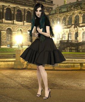 Girl, Gothic, Fantasy, Goth, Dark, Woman, Female, Young