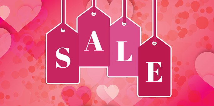 Sale, Tag, Hearts, Discount, Price, Advertising