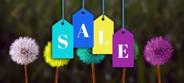 Sale, Tag, Dandelions, Discount, Price, Advertising