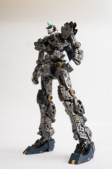Robot, Standing, Bandai, Gundam, Rx-93, New Gundam
