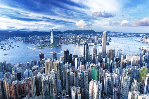 Buildings, Skycrapers, Urban, City, Night, River, Lake