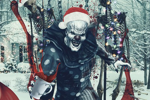 Clown, Scary, Character, Poster, Movie, Cinema, Terror