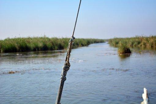 Rope, Wood, Boat, Lake, Sailboat, Sailing Boat