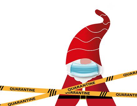 Santa Claus, Coronavirus, Quarantine, Barrier, Covid-19