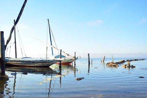 Boats, Port, Sea, Reflection, Water, Bay, Ocean, Lake