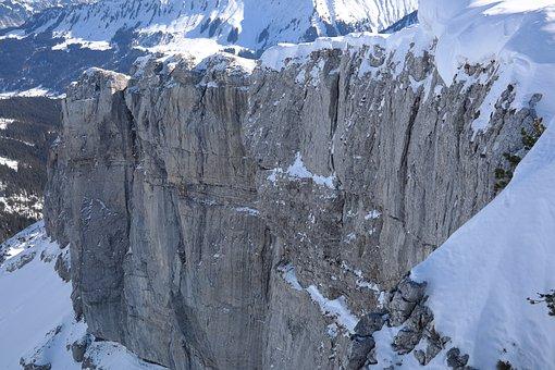 Rock Wall, Abyss, Rock, Steep, Dangerous, Door Corner