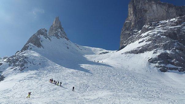 Drusenfluh, Backcountry Skiiing, Alpine, Mountains