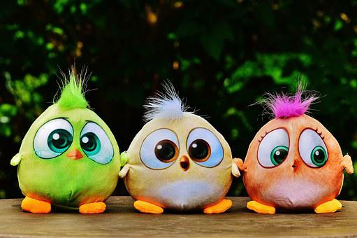 Birds, Birdie, Plush, Stuffed Animal, Toys, Cute, Sweet