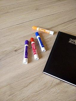 Felt Pens, Pens, Marker Pens, Colorful, Notes, Desk