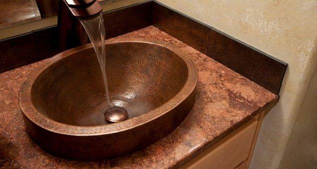 Sink, Copper, Tap, Water, Plumbing, Faucet, Bathroom