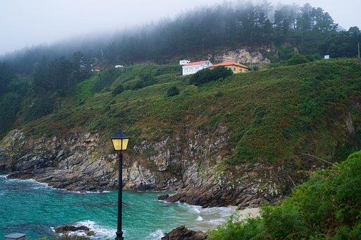 Costa, Cloudy, Sea, Blue, Light, Lighting, Fisterra