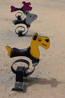 Spring Swing, Swing, Playground Equipment, Dog, Mouse