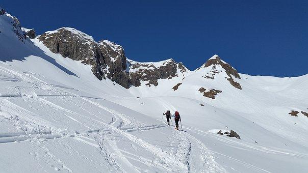 Backcountry Skiiing, Elfer Head, Kleinwalsertal, Elfer
