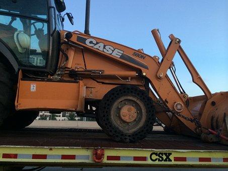 Construction, Front Loader, Excavator, Heavy, Bucket