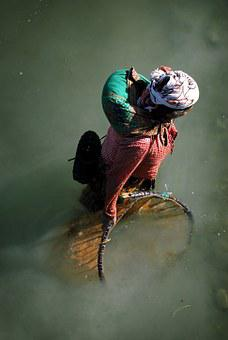 Fishing, Women, Nepal, River, Network, Poverty, Water