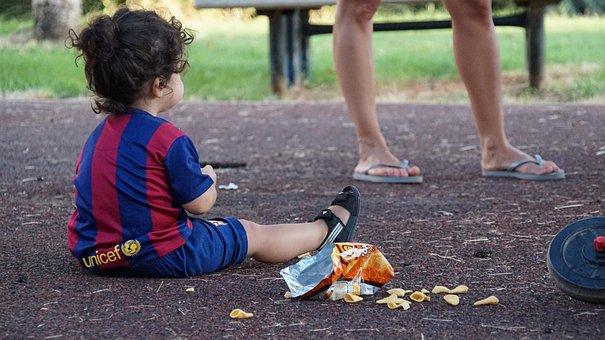 Kid, Food, Playground, Child, Sitting, Babysitting