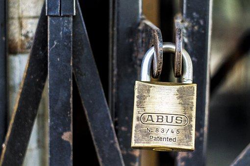 Lock, Padlock, Metal, Grunge, Metallic, Rusty, Gate