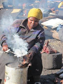 Cooking, Township, South Africa, Goats, Culinary