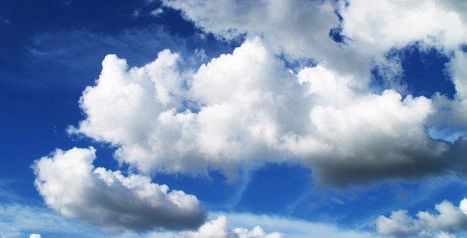 Sky, Cloud, Blue, Background, White, Heaven, Heavenly