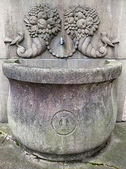 Fountain, Thirst, Water, House Of Worship, Middle Ages