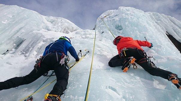 Ice Climbers, Climb, Ice, Ice Climbing, Icefall, Frozen