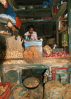 India, Mumbai, Market, Work, Poverty
