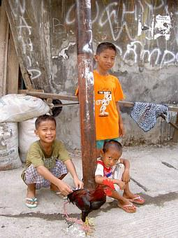 Indonesia, Children, Slum, Haan, Poverty, Asia, Play