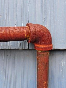 Pipe, Elbow, Joint, Rust, Rusted, Plumbing, Industrial