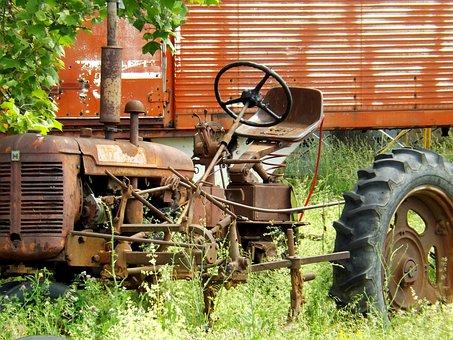 Tractor, Machine, Old, Rusty, Machinery, Vehicle, Work