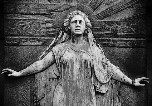 Statue, Cemetery, Monument, Sculpture, Woman