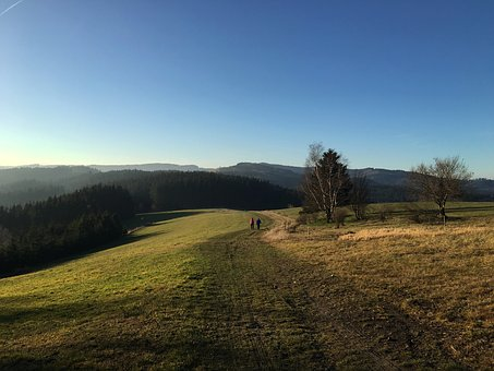 Czech Republic, Grass, Hill, Trees, Europe, Sky, Nature