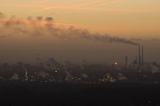 Pollution, Industrial Plant, Steel Mill, Blast Furnace