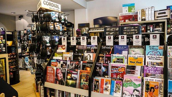 Store, Music, Rock, étallage