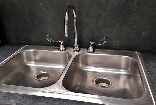 Basin, Sink, Kitchen Sink, Tap, Drain, Faucet