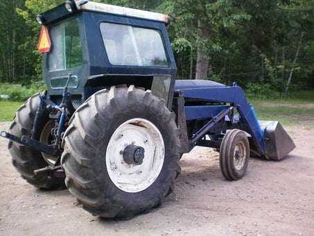 Tractor, Wheels, Agriculture, Blue, Vehicle, Wheel