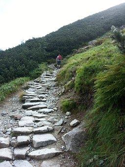 Trail, Black Trail, Mountains, The Path, Gravel Road