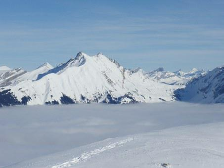 Snow, Winter, Backcountry Skiiing, Switzerland, Wintry