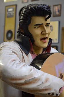 Elvis, Wooden, Carving, Art, King, Music, Rock And Roll