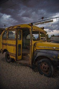 Bus, School Bus, Transportation, Antique, Vintage