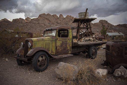 Truck, Vehicle, Antique, Vintage, Nelson Nevada, Nelson