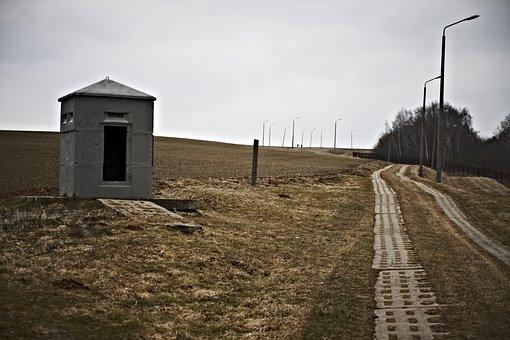 Border, Fence, Todesstreifen, Barbed Wire, Metal