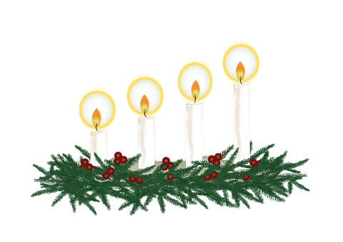 Candles, Advent Wreath, Christmas