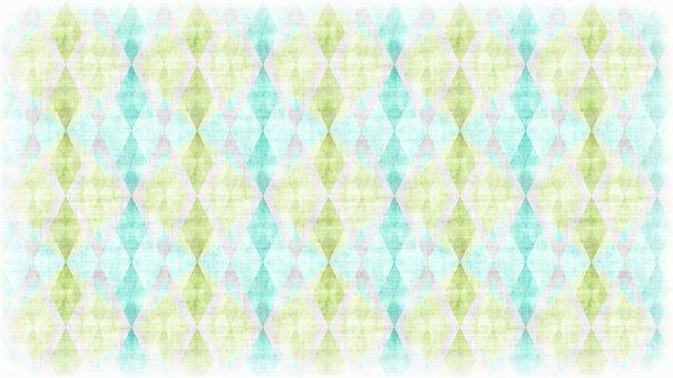 Rhombus, Checkered, Mosaic, Christmas, Diamond, Argyle