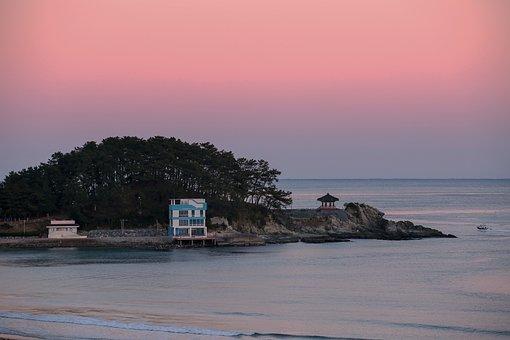 Sunset, Beach, Sea, Twilight, Dusk, Evening, Coast