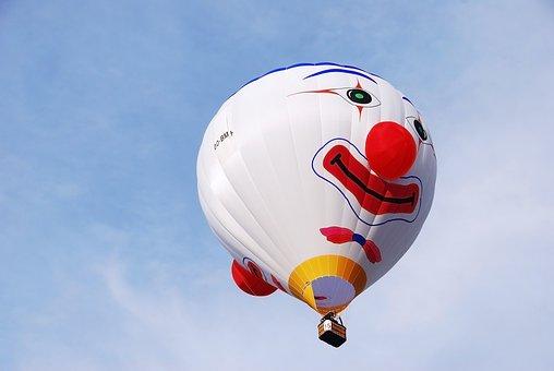 Hot Air Ballon, Festival, Balloon, Fly, Clown, Face